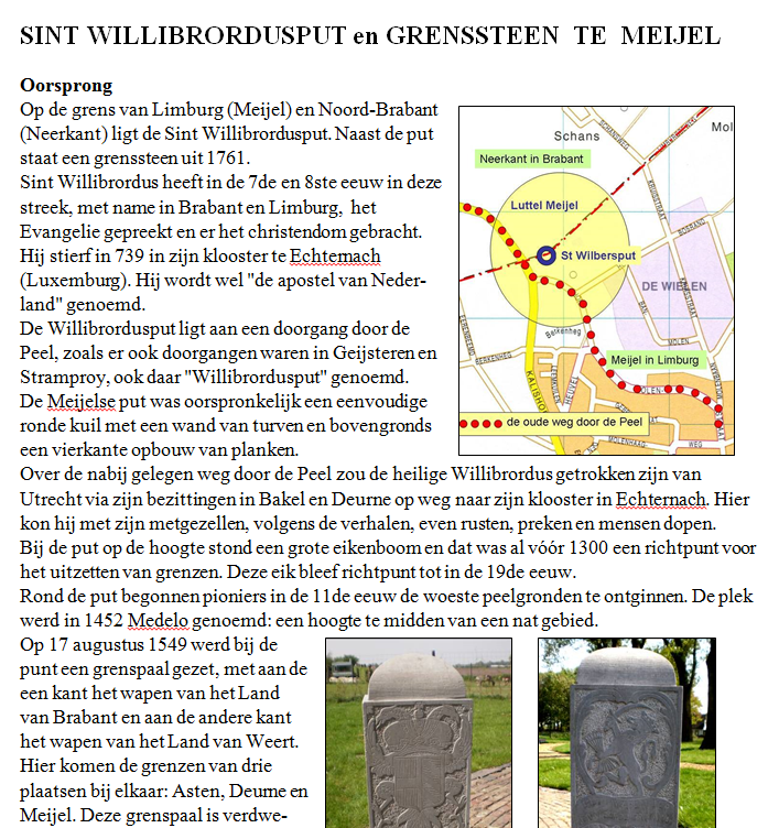 "Canon ""St. Willibrordusput en grenssteen te Meijel"""